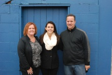 Julia Ferrante with her parents