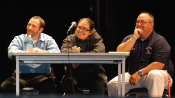 Judges (left to right): Mr. Rich MacAllister, Ms. Sam Hoyo, Mr. Nick Liquori, appear to be enjoying the Mr. Rockland show.