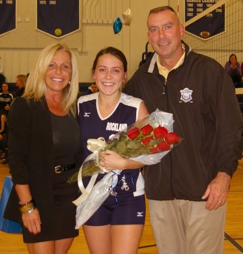 Senior Kelsey Joyce with her parents, Susan and Thomas Joyce.
