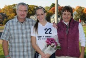 Leah Benson and her parents, Michael and Laurie.