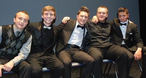 Left to right the 2013 Mr. Rockland candidates: Gerard Saucier, Brian Leonard, Chris Catania, Jake Mesheau and Derek Crowe