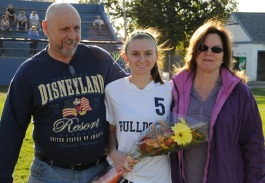 Erin Mulready and her parents, Janet and Tom.