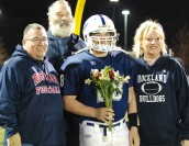 Senior captain Andy Reardon and his mom, dad and papa!