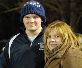 Brandon Lane and his mom