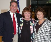 Athletic Director Gary Graziano, Jane Killinger and Donna Girouard. Killinger introduced Girouard and detailed her outstanding accomplishments in athletics at RHS from 1964 to 1967. She also called her a pioneer in the recognition of female athletics which was accomplished with the passage of TitleIX legislation in 1972.