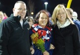 Senior cheerleading captain Haley Reardon and her parents.
