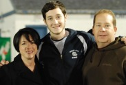 Ian Haas with his parents