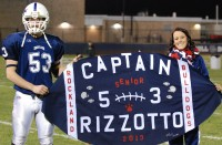 Senior captain Joe Rizzotto and senior cheerleading captian Haley Reardon.