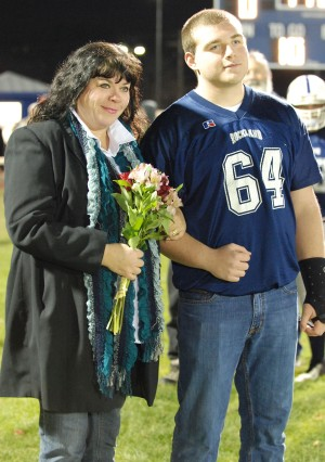 Senior Gene Dorney and his mom.