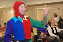 Mr. Chad Bigsby plays the Court Jester during the banquet part of the Festival.
