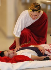 Sean Vo as Caesar; Chris Catania as Mark Antony