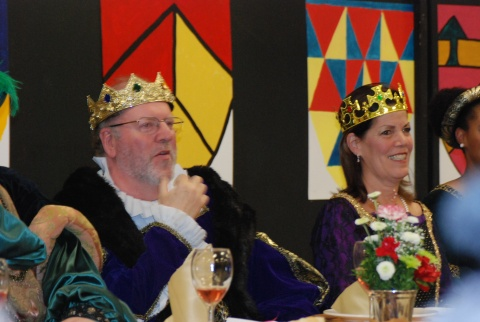 King Retchless and Queen Fleming enjoying the entertainment.