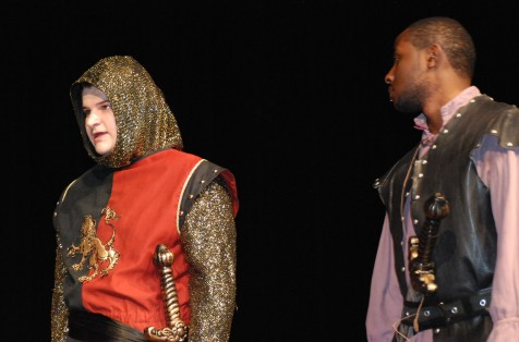 Chris Landy and John Kamande in a scene from Henry V.