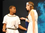 Leshon and Lilly in a scene from A Midsummer Night's Dream