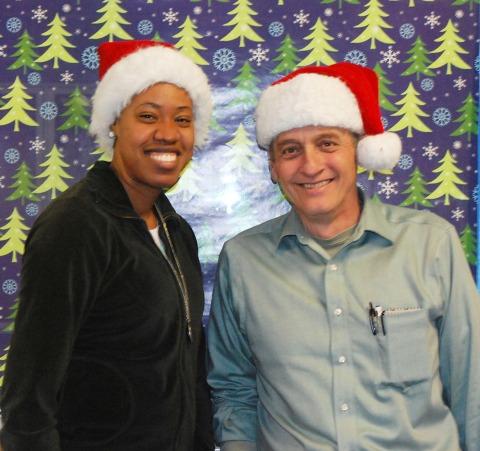 Ms. Patrice Rose and Mr. David Murphy, this year's Santa and Mrs. Claus at RHS.