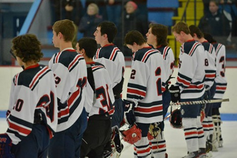Team line-up before the EB game.