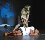 Marissa Labelle as Puck and Leshon Crawford as Lysander.