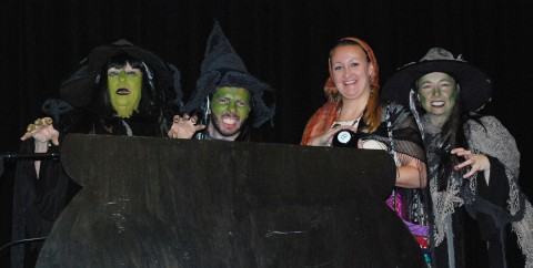 Mrs. Kemenes, Mr. MacAllister and  Ms. Linehan played the part of the witches.  Mrs. Thompson was a gypsy.