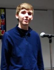 Brian Leonard performs at Poetry Out Loud.