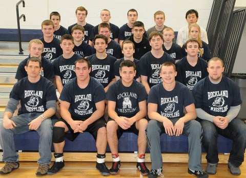 The 2014 RHS wrestlers: Back row: left to right: Andrew Rowell, Colin Toohey, Mike Ahern, Alec Donegan, Owen Martin, Mitch Vongbandith, Troy Panico, Brad Gasdia, Pat Sullivan, Aric, Bill bo Parles, Christina Howe, Matt Martin, Tyler Murphy, Austin Ferullo, Joe Callahan, Pearse McNally, Mike Mignosa, Coach Tim Brown,  The Dennis, Derick Crowe, Bobby Gasdia, Coach Peter Harrington.