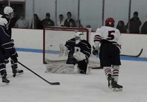 Shawn Kane's scores one of his five goals against Denniw Yarmouth.