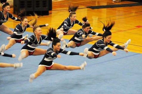 The cheerleaders got 1st place at the regionals on March 2.