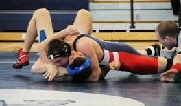 Bobby Gasdia pinning Norwell opponent