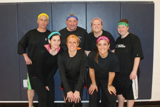 Team Common Hard Core from Memorial Park Elementary included Maria Castagnozzi, Kelsey Cooley, Emily Adams, Mike Callahan, Erin O'Day, and Rich Gattine.