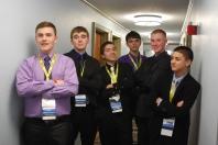 Freshman Adam Royle, senior Brian Leonard, sophomore Ryan Sugrue, sophomore Owen Mahoney, freshman Jeffre Donahue, and freshman Mike Belmonte