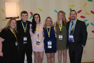 SGC advisor Ms. Kristen Walsh, Seniors Brian Leonard, Devin Gilmore, Jackie Carlson, Molly Garrity, and SGC advisor Mr. Greg Rowe