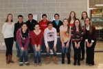 This year's National Honor Society inductees: (top row from L) Danielle Whitcher, Brian Cohen, Dennis McPeck, Jared Quirk, Edward Yeadon, Julia Matson, and Natalie Ellard (front row from L) Alyssa Collins, Nicole Cook, Iman Bendarkawi, Kara Penney, Alexandra Pigeon, and Katherine Delorey (Not pictured: Mekenzie Levesque, Kayla Frazer, and Erin Mulready)