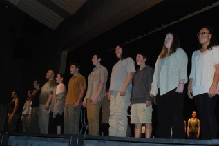 "Members of the Rockland High Chorus perform ""Bui Doi"" from the musical ""Miss Saigon"""