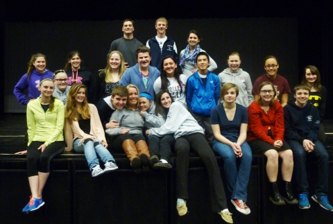 The cast of the Theater Guild's High School Musical