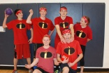 Team Incrediballs (Standing left to right) Matt Rocha, Jeffre Donahue, Sam Collyer, Kylie McKenna (Kneeling) Sami Murray and Ben McKenna