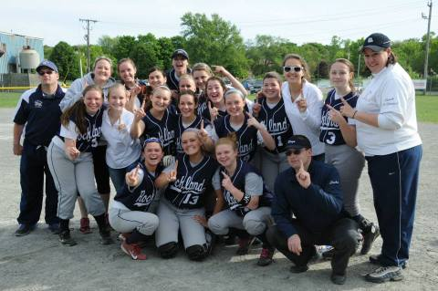 The girls' softball team advanced in tournament play with an 11-1 win over Randolph.