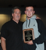 Colin Aylward received his award from AD Gary Graziano