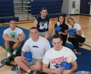 Jason O'Brien, Andrew Reardon, Joe Rizzotto, Back: Matt Nicholson, Kylie Langhoff, Haley Reardon