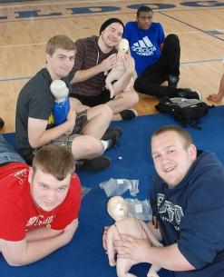 Left to right Brandon Lane, Josh Lutts, Chris Catania, Jean Barreau, Jacob, Mesheau