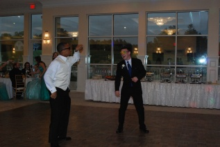Leshon Crawford and Alec Donegan get the dancing started