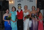Prom Court; Nicole Cook, Kara Penney, King Cameron Stuart, Queen Brianna Starkey, Kallie Morse and Krystin Killion