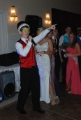 Cameron Stuart makes a speech after being named Prom King