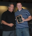 Ethan Rooney was presented an award from AD Gary Graziano