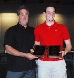 Joe Rizzotto received two awards from AD Gary Graziano