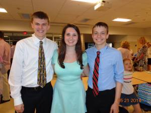 Markus Rohwetter, Alyssa Collins, and PJ Butler were all inducted into the National Honor Society. Photo Courtesy Alyssa Collins.
