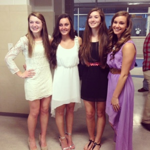 Kara Penney, Alex Pigeon, Julia Matson and Katie Delorey were all inducted into the National Honor Society. Photo Courtesy Julia Matson.