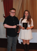 Shawn Ward & Hannah Millen received the Grade 9 Art Achievement Award.