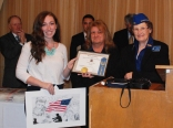 Ashley Pezzella was the Patriotic Art Show of Massachusetts, first place winner. Her drawing pictured above will now be entered in the Nationals. Her award was presented by Melissa Pratt, and Claire Payne of the Ladies Auxiliary Veterans of Foreign Wars (LAVFW).