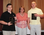 Department Chair Brenda Folsom presented the Technical Education Achievement Awards to juniors Adam Garden (left) and Jason Cameron.
