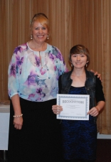 Danielle Hill received several awards at the Academic Awards Banquet including a Silver Key for Drawing from the Globe Scholastic Art Show, Honorable Mention from the Second Parish Church of Hingham Art Show, and First Place Drawing from the Congressional Art Show. Danielle was also recognized for being selected to Art All-State and for her participation in the State Finals of the Poetry Out Loud Contest. Assistant Principal Susan Patton presented Danielle with her awards and recognition certificates.