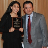 Junior Iman Bendarkawi was presented an award for Foreign Language by Mr. Moscoso.